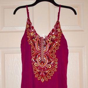 NWT Beautiful Pink Paisley Dress